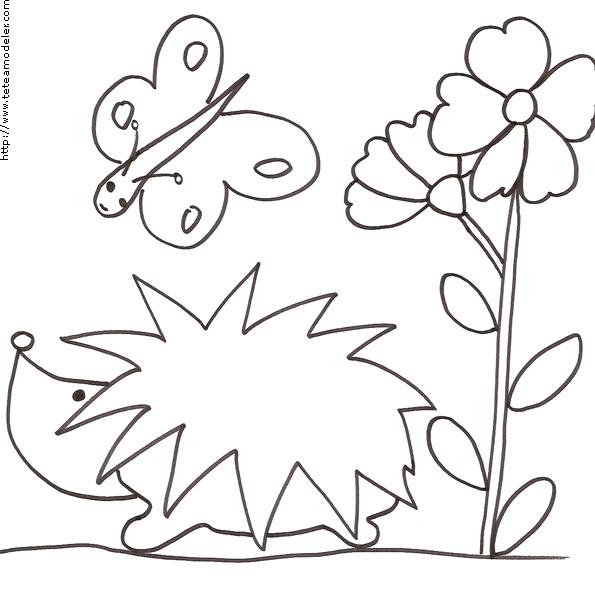 Coloriage h risson colorier dessin imprimer - Herisson dessin ...