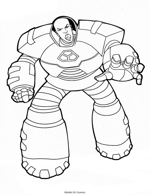 dessin à colorier super hero en ligne