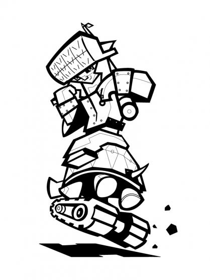 hero factory coloriage à dessiner en ligne