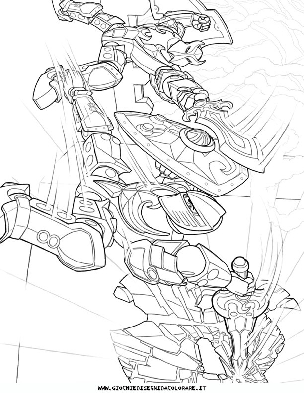 coloriage à dessiner imprimer hero factory