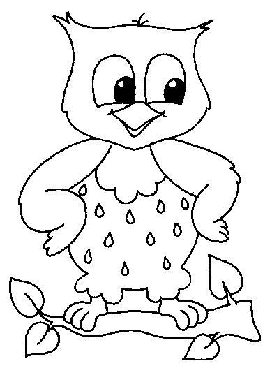 dessin à colorier hibou halloween