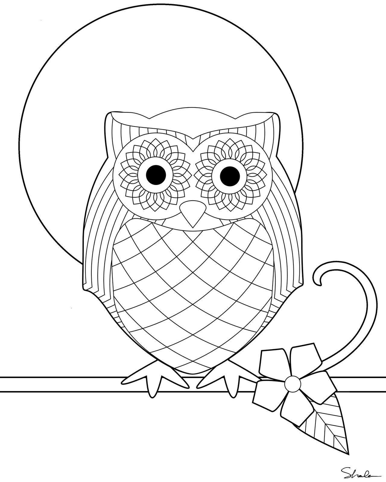 dessin a imprimer hibou