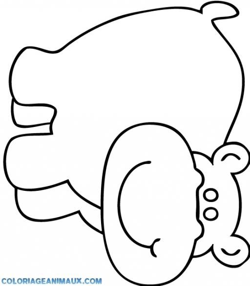 dessin bébé hippopotame