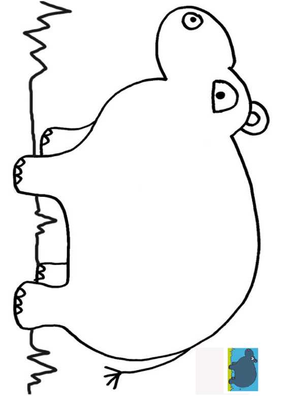 dessin à colorier d'hippopotame en ligne