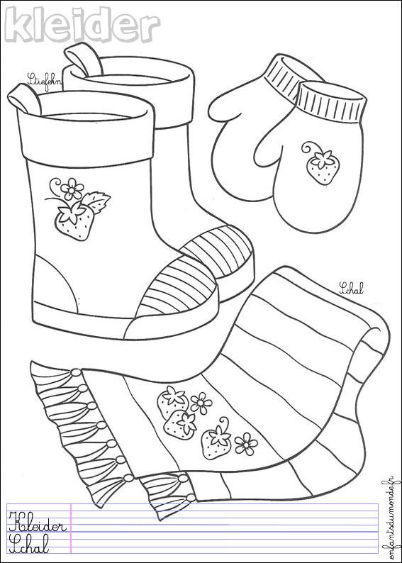 coloriage hiver maternelle