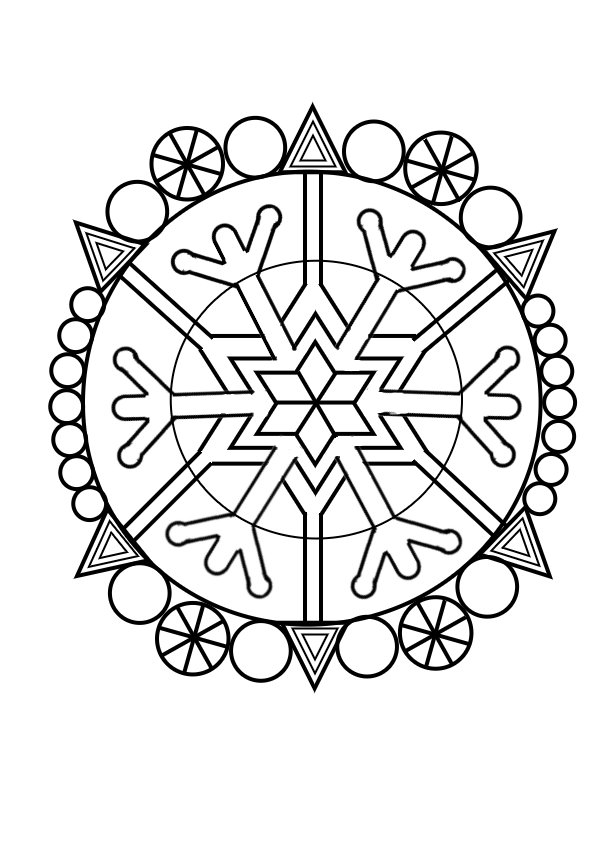 Coloriage froid hiver - Coloriage mandala maternelle ...