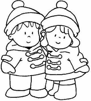 coloriage à dessiner hiver maternelle à imprimer
