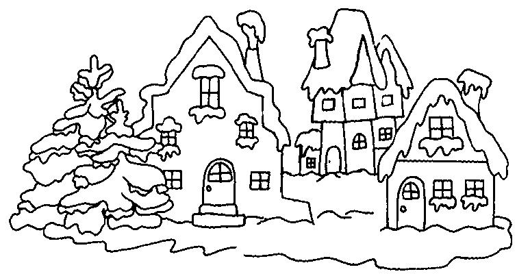 coloriage à dessiner tchoupi en hiver