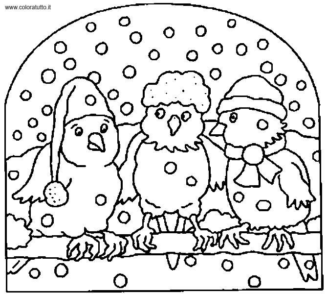 dessin à colorier hiver cp