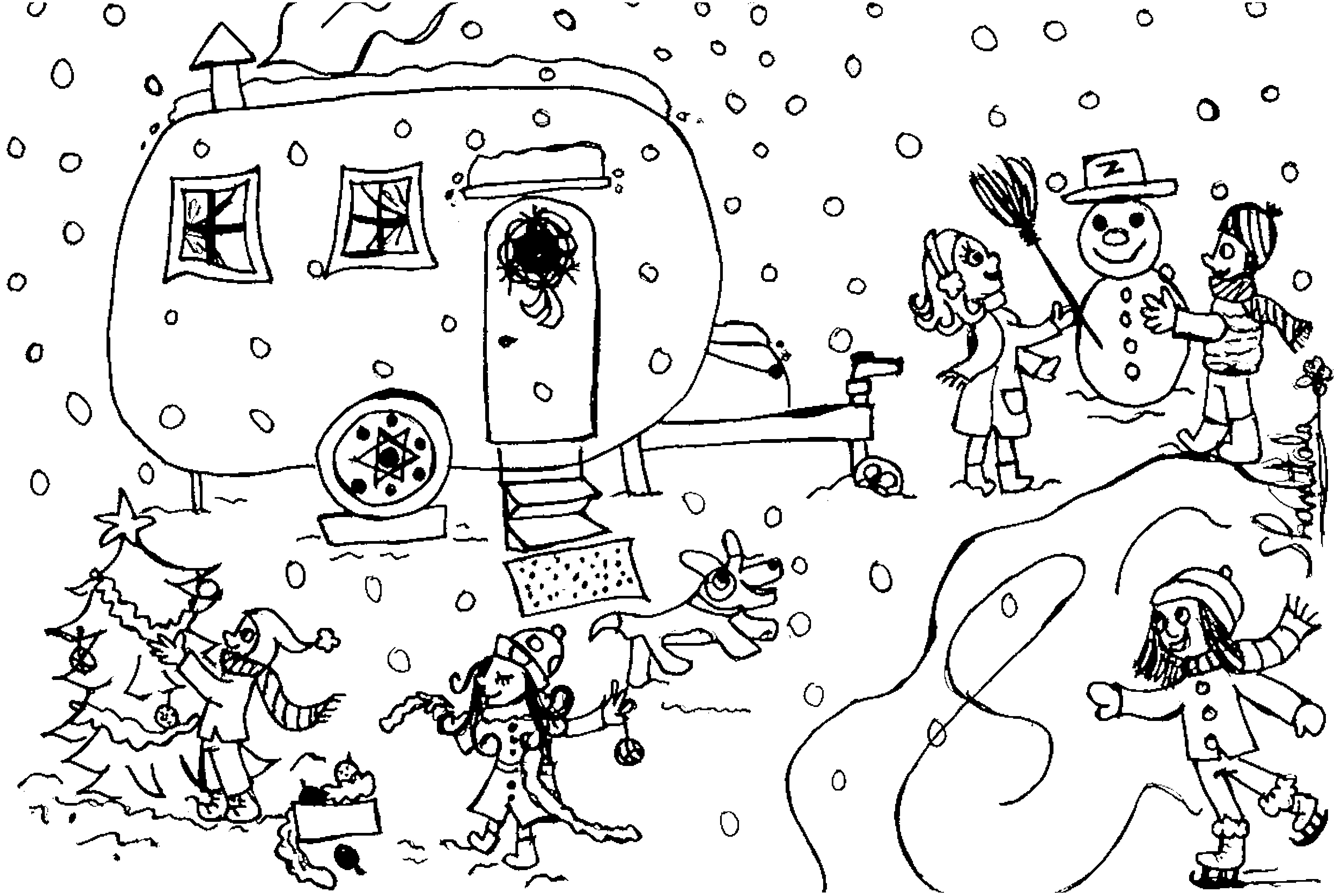 dessin à colorier hiver mandala