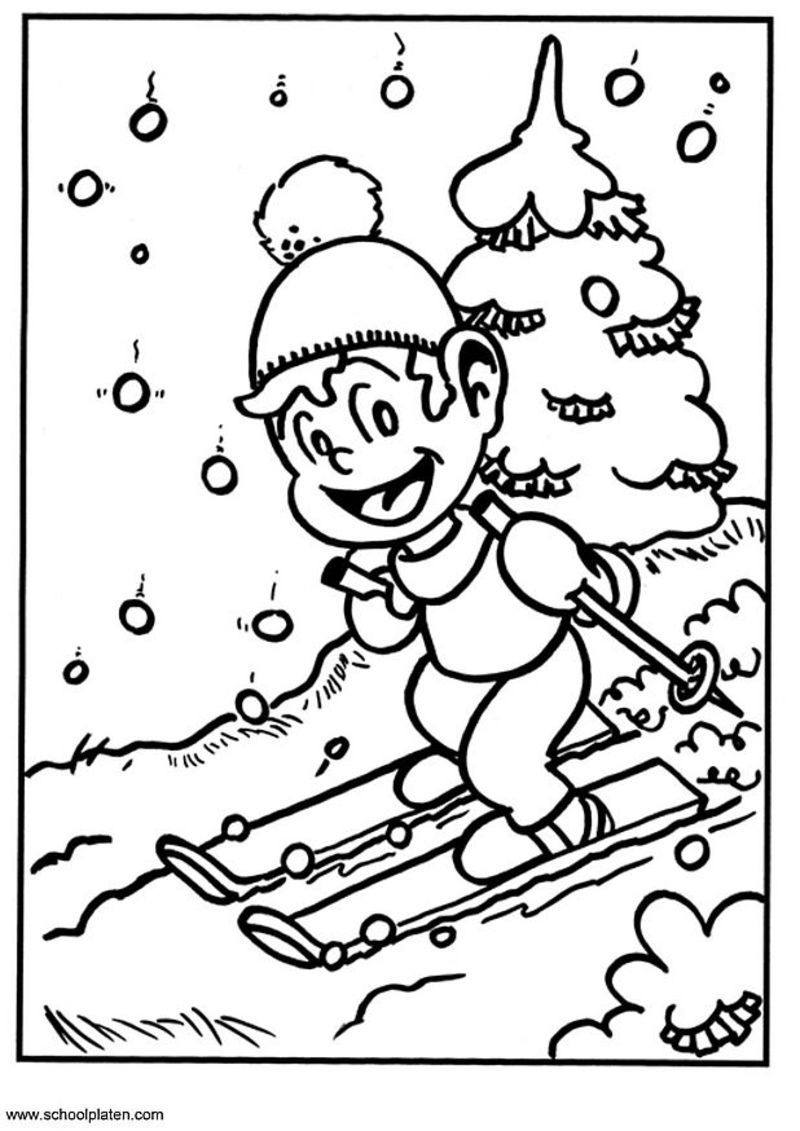 coloriage à dessiner hiver a imprimer