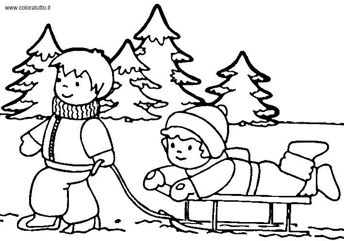 coloriage à dessiner hiver maternelle