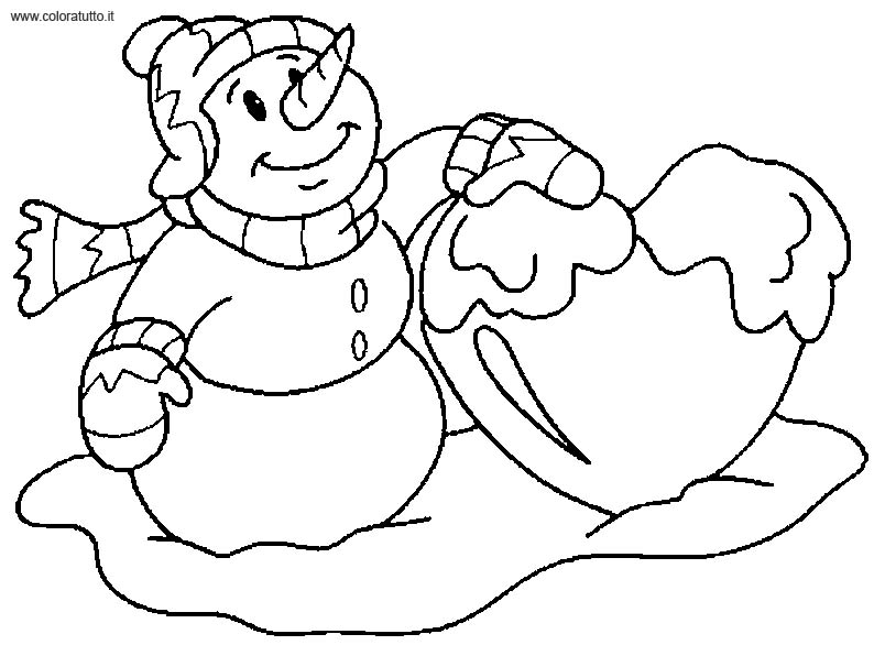 coloriage simple hiver
