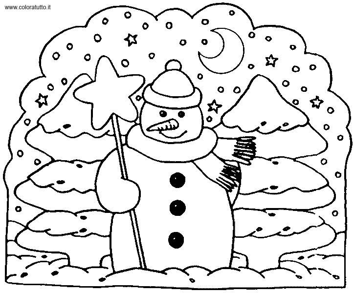 coloriage à dessiner magique hiver imprimer