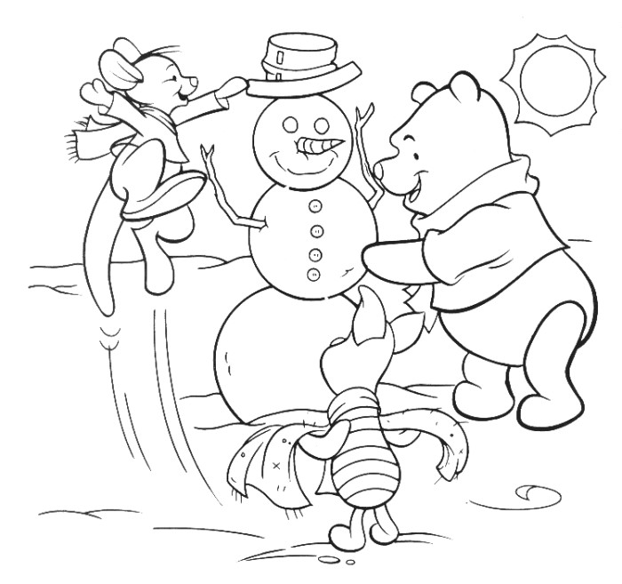coloriage à dessiner l'hiver imprimer
