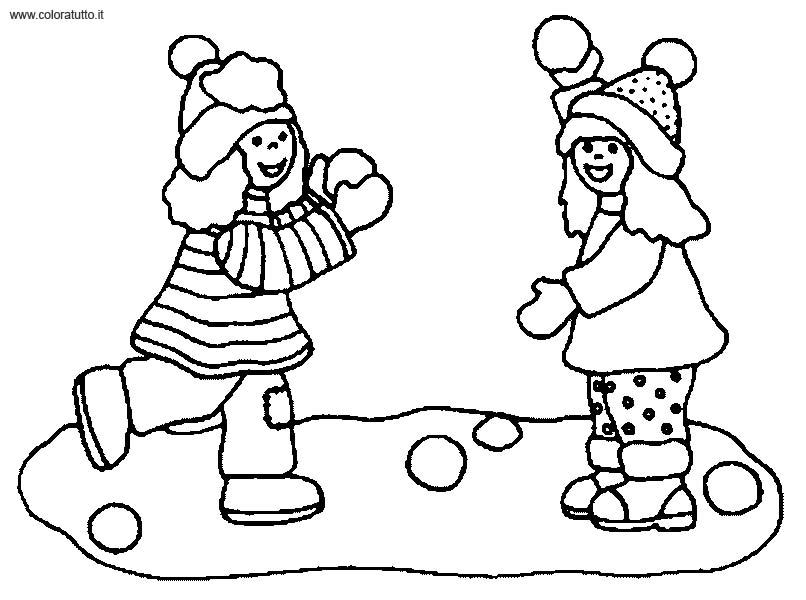 dessin à colorier hiver maternelle à imprimer