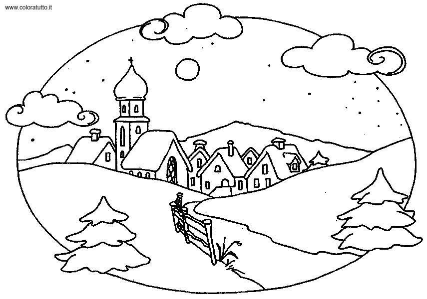 coloriage à dessiner mickey hiver