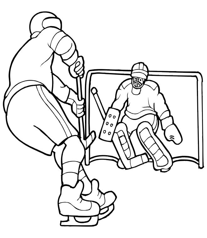 Coloriage A Dessiner Hockey Sur Gazon