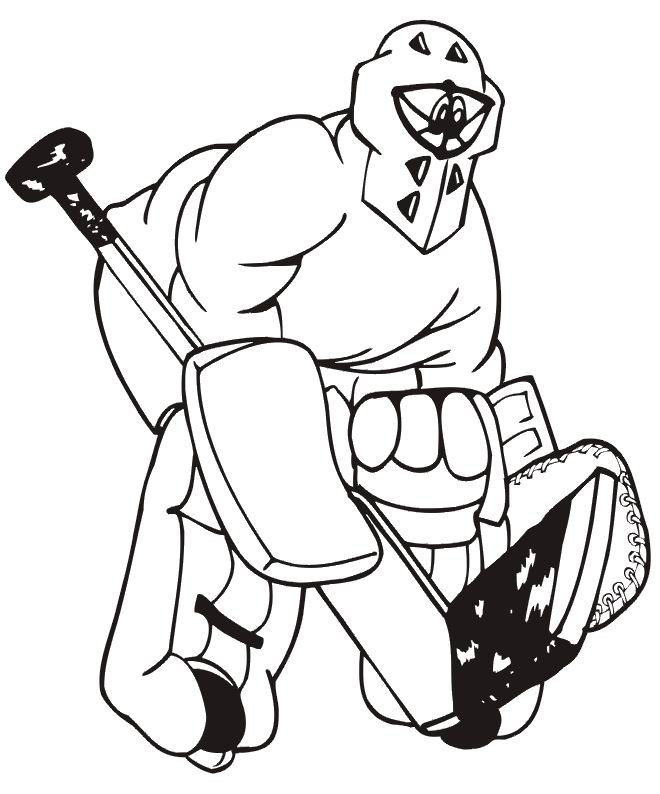 coloriage de hockey canadien