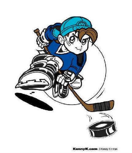 coloriage à dessiner hockey sur glace imprimer