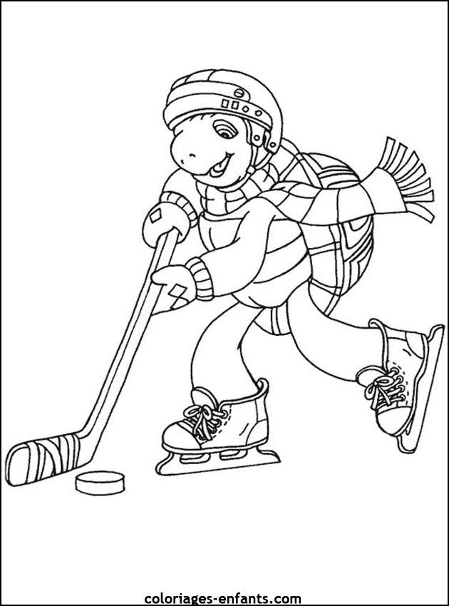 coloriage à dessiner de hockey a imprimer