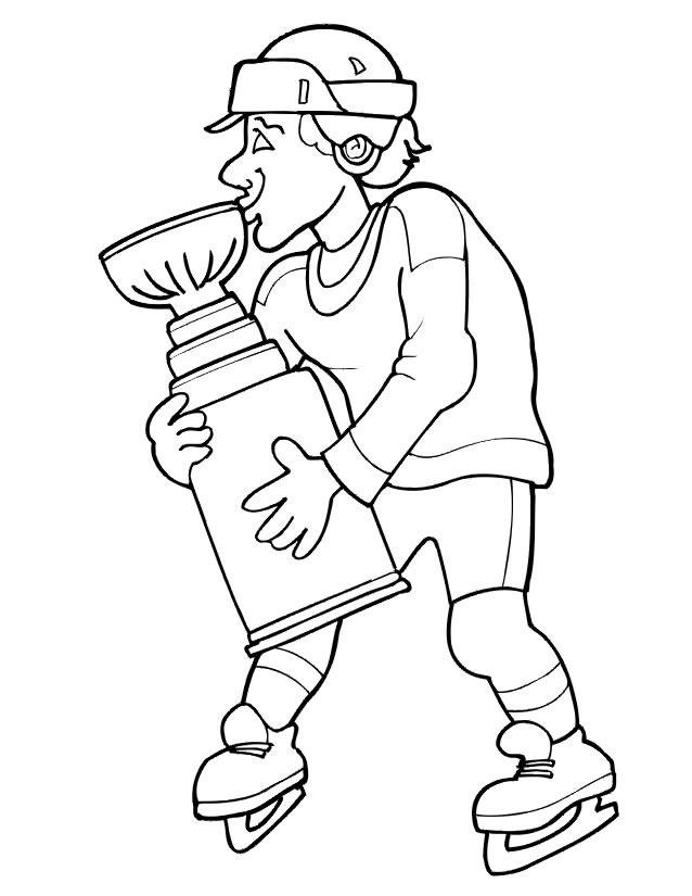 Coloriage De Hockey Sur Glace A Imprimer