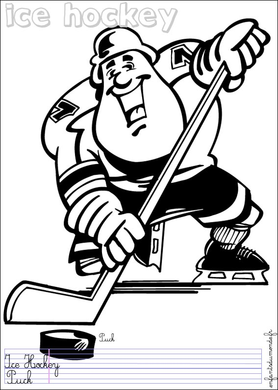 dessin à coloriers hockey imprimer