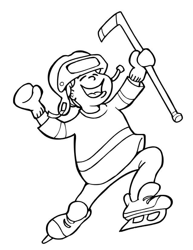 Dessin de hockey canadien - Dessin hockey sur glace ...