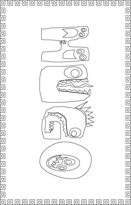 coloriage de hugo l'escargot animaux