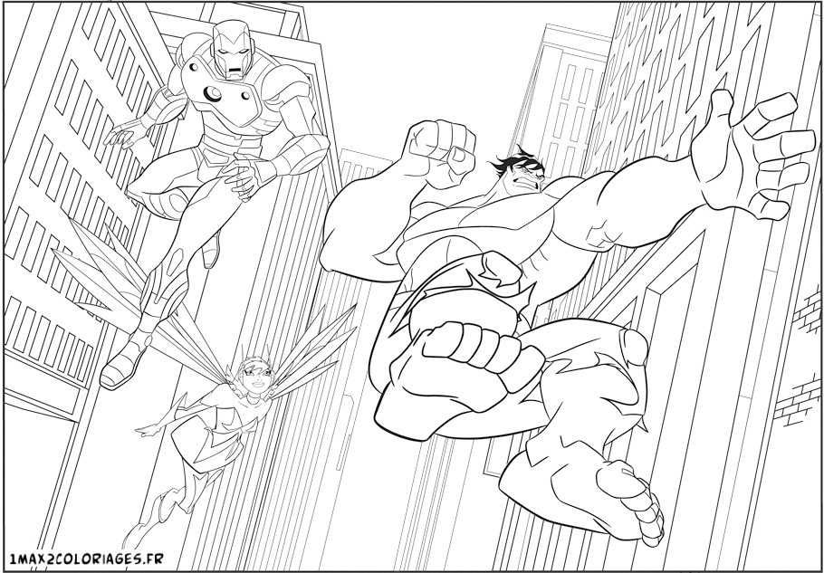 10 dessins de coloriage hulk avengers imprimer - Coloriage spiderman et hulk ...