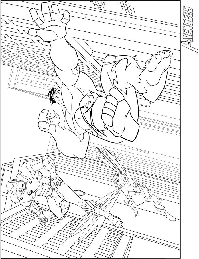 10 dessins de coloriage hulk avengers imprimer - Dessin avenger a imprimer ...