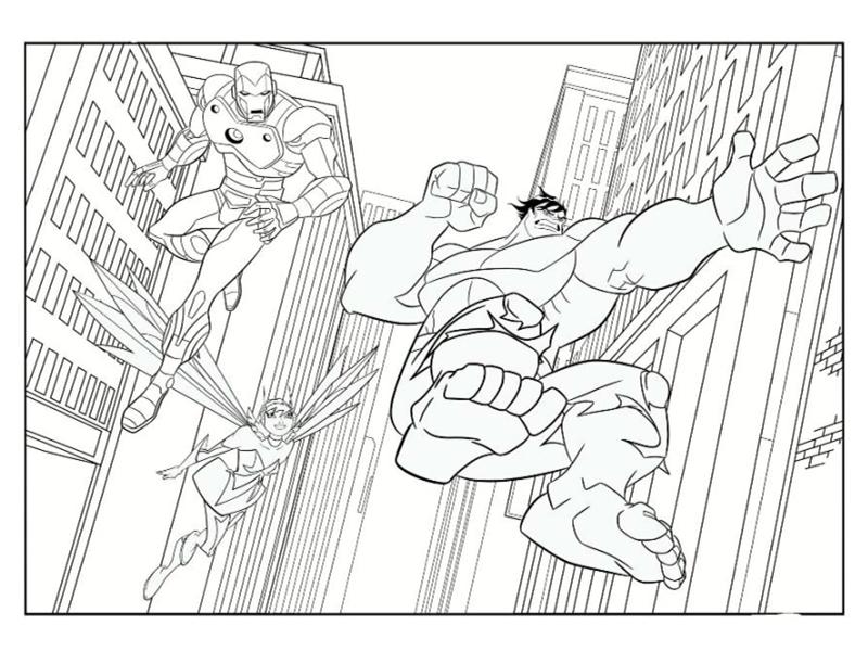 10 Dessins De Coloriage Hulk Avengers à Imprimer
