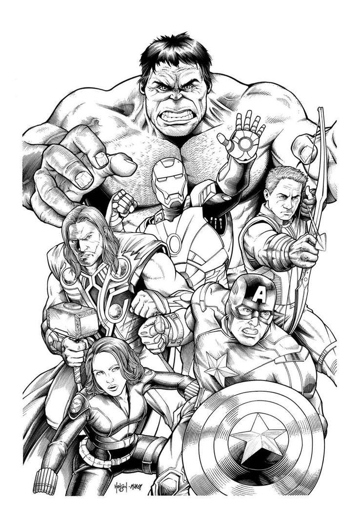 10 dessins de coloriage Hulk Buster à imprimer