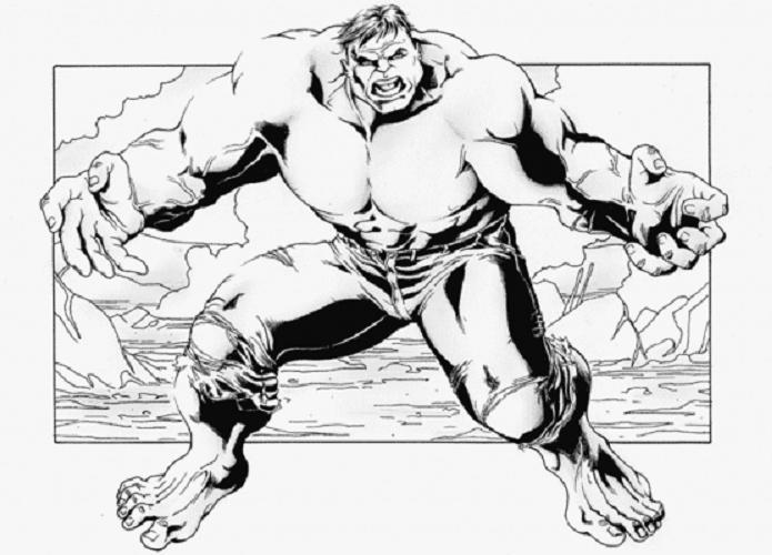 hulk gratuit imprimer colorier voir le dessin