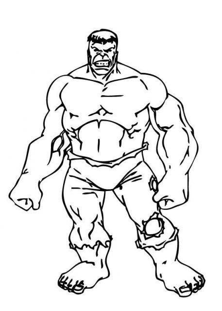coloriage à dessiner de hulk 2
