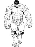 dessin à colorier hulk 3