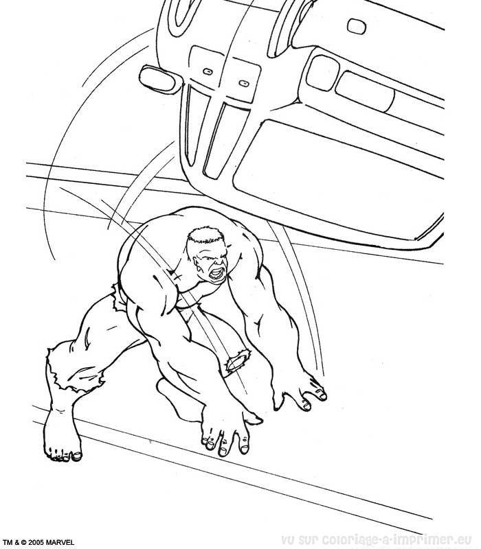 coloriage à dessiner d hulk
