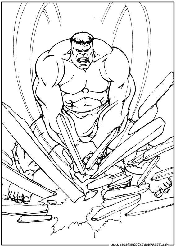 dessin à colorier hulk hogan