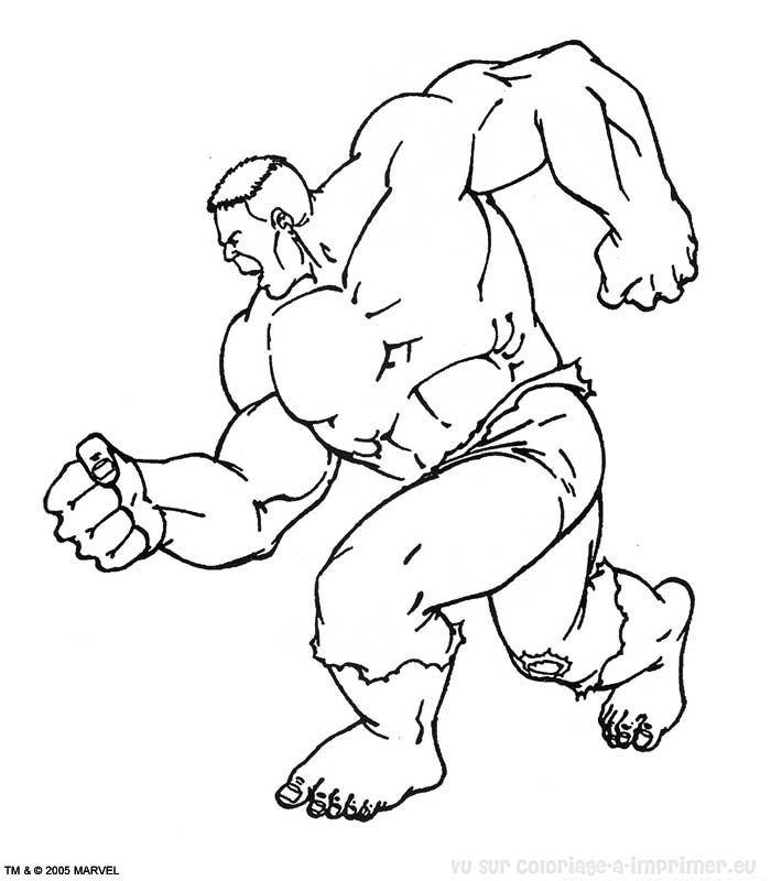imprimer dessin hulk