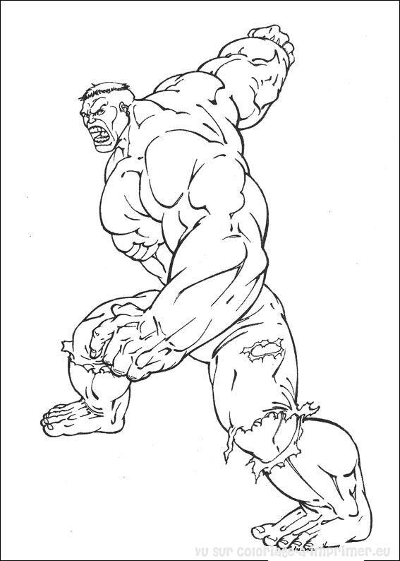 Coloriage dessiner de hulk 2 - Hulk a imprimer ...