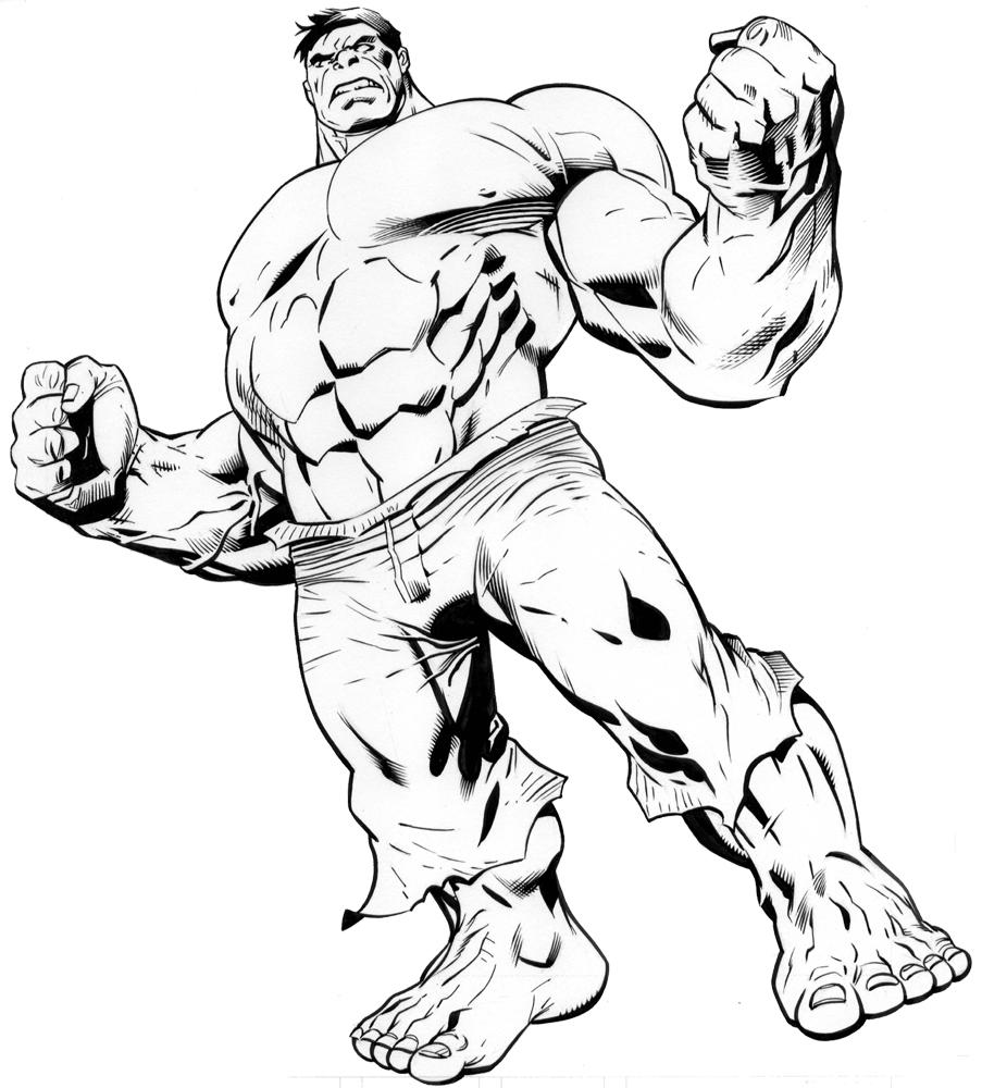 Coloriage de hulk et spiderman - Hulk a imprimer ...