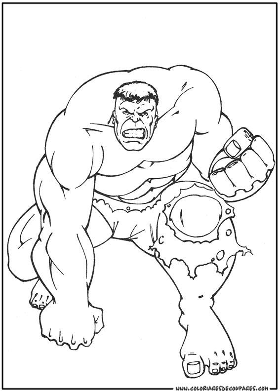 hulk en coloriage