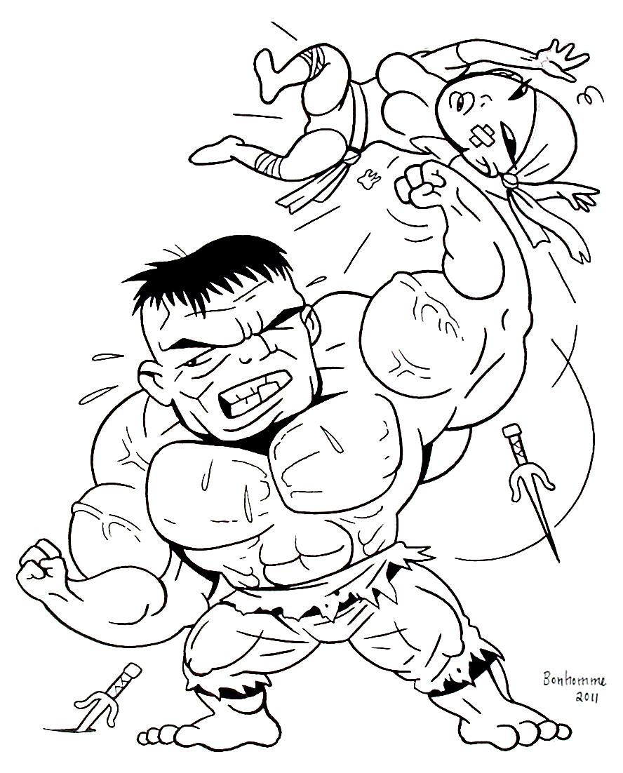 Dessin colorier hulk buster - Hulk a imprimer ...
