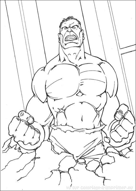 coloriage lego hulk
