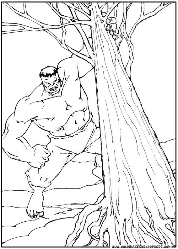 dessin à colorier d hulk