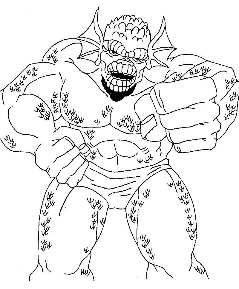coloriage à dessiner hulk à imprimer