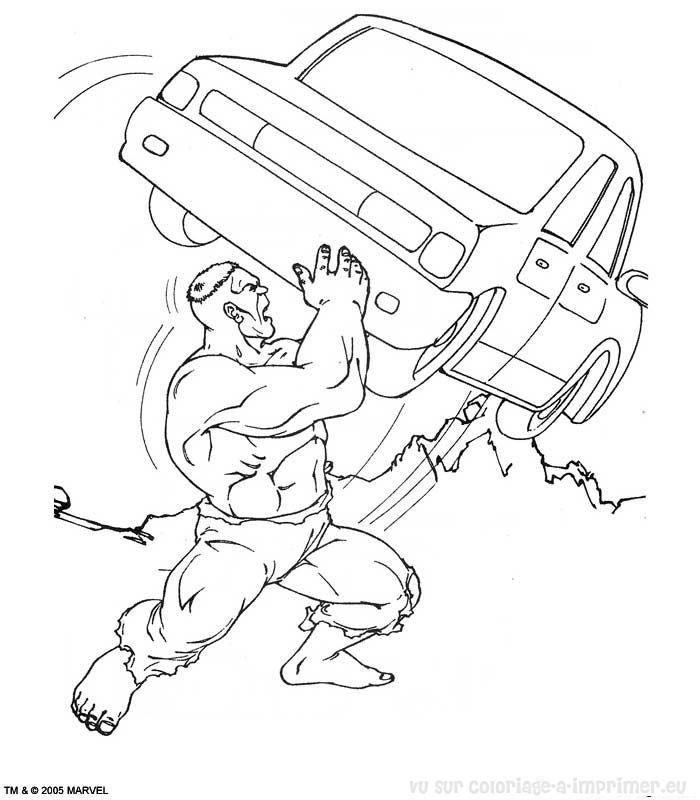 dessin à colorier de hulk 1