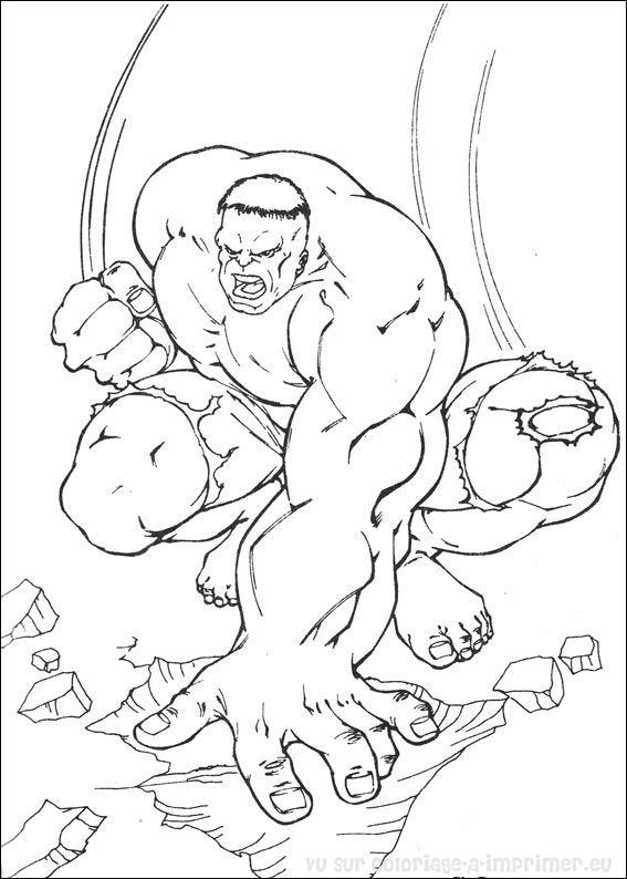 dessin à colorier hulk buster