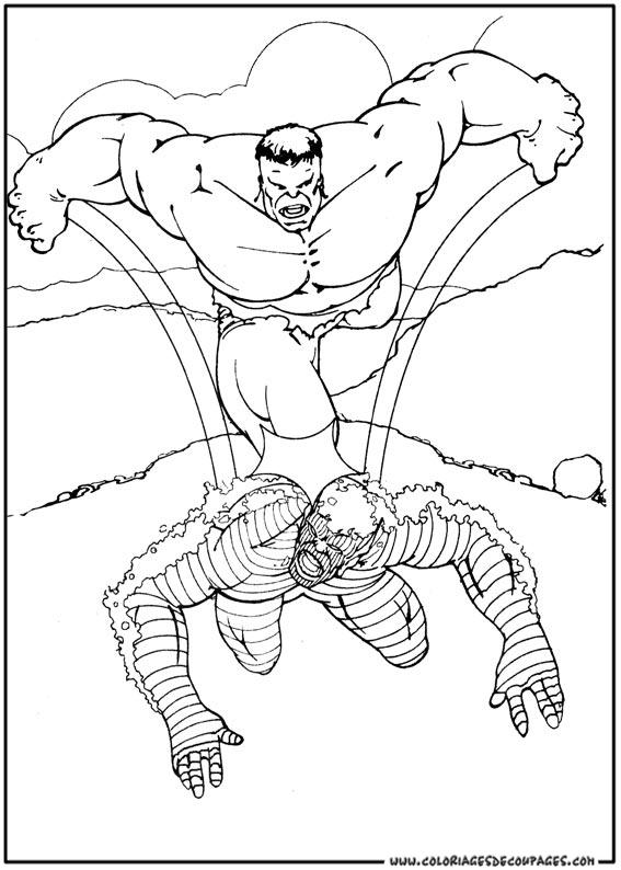 livre dessin hulk
