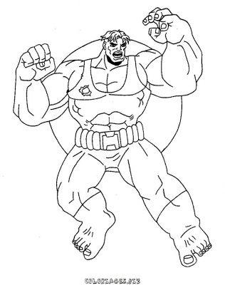 dessin hulk hogan